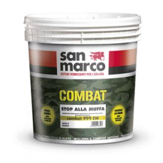 COMBAT 999  Супер бяла анти мухъл боя с висока паропропускливост за интериорно приложение