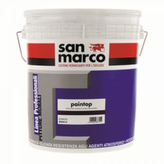 PAINTOP ANTIALGA  Миеща високопокривна кварцова боя за екстериорно приложение